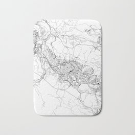 Bilbao White Map Bath Mat