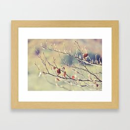 The Last Leaves Framed Art Print