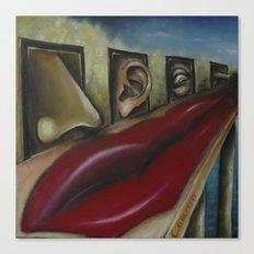Hanging senses Canvas Print