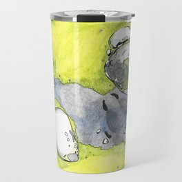 Moss Study with Wolf Print Travel Mug