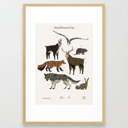 Shelter 2 - Animal Summer Coats Framed Art Print