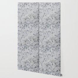 Silver Hide Print Metallic Wallpaper