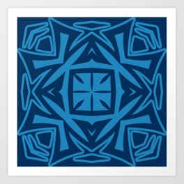Deep Blue (colored Callisto) Art Print