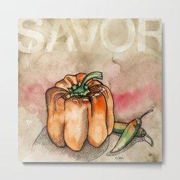 Savor (Pepper) Metal Print