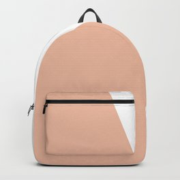 Geometric Ballet Slipper Pink + White Backpack