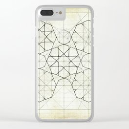 Geometry Sketch Nine Clear iPhone Case