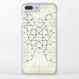 Geometry Sketch Nine Clear iPhone Case