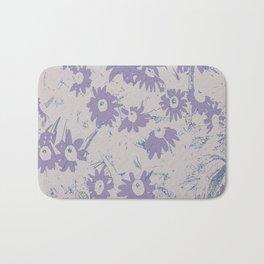 Purple Coneflowers with Grey Background Bath Mat