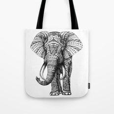 Ornate Elephant Tote Bag