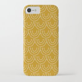 Dotted Scallop in Gold iPhone Case