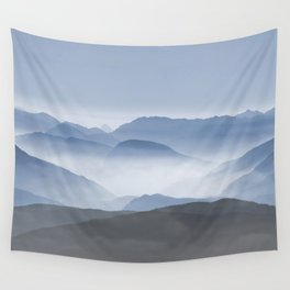 Blue Mountains in Dust - Photoadaption Wall Tapestry