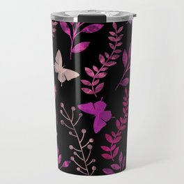 Watercolor flowers & butterflies III Travel Mug
