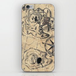 Old Nautical Map iPhone Skin