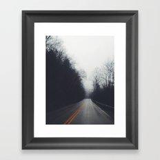 Quiet Drive Framed Art Print
