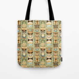Tropical Hawaiian Deluxe Tiki Party Pattern Tote Bag