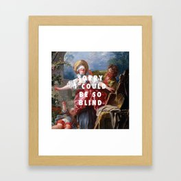 Jean-Honoré Fragonard, Blind-Man's Buff (1750 - 1752) / Halsey, Sorry (2017) Framed Art Print