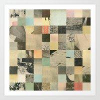 Pixelated Collage Art Print