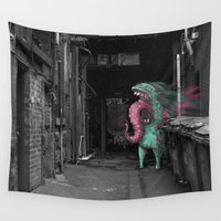 melbourne Wall Tapestries featuring Unseen Monsters of Melbourne - Dimples McGee by Unseen Monsters