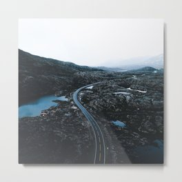 Norway Road Metal Print