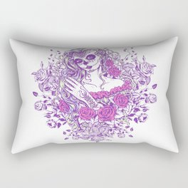 Sexy Woman zombie WITH Flower -  Carla - Vivid Violet - Lavender Rectangular Pillow