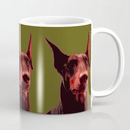 Doberman, majestic dog Coffee Mug