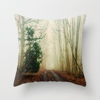 ghost Throw Pillows featuring GHOST PATH by Catspaws