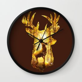 Deer's Woods Wall Clock