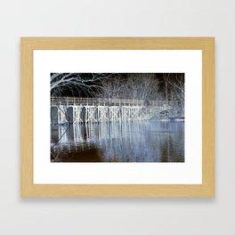 Negative Bridge Framed Art Print