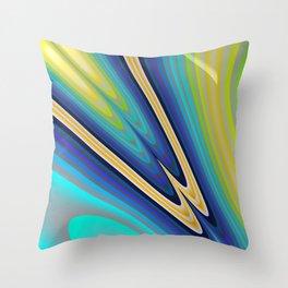 Aurora Borealis Fractal Art Throw Pillow