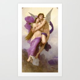 The Abduction of Psyche 1895 by Bouguereau Art Print