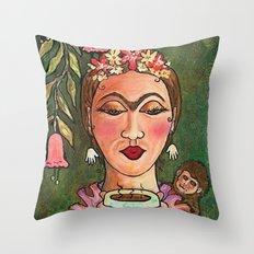 Frida's Hot Chocolate Throw Pillow