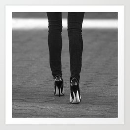 Excess Black and White Art Print