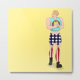 Happy American Boy Metal Print