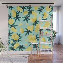 Lemon Twist Vibes #1 #tropical #fruit #decor #art #society6 Wall Mural