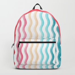 029 coloured waves Backpack