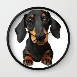 Cute Sausage Dog Wall Clock