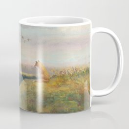 Red Fox Looks Out Over the Valley Coffee Mug