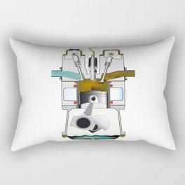 Exhaust Stroke Rectangular Pillow