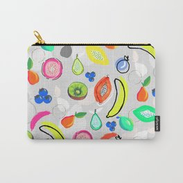 Fruit Crush Grey Carry-All Pouch