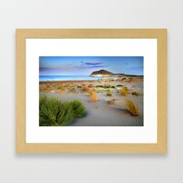 """Genoveses Beach"" Sunset at beach Framed Art Print"