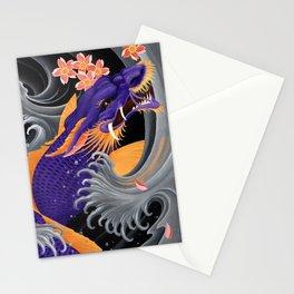 Purple Dragonkoi with Sakura Stationery Cards