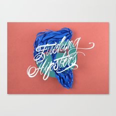F****** Hipsters - 3D Typography Canvas Print