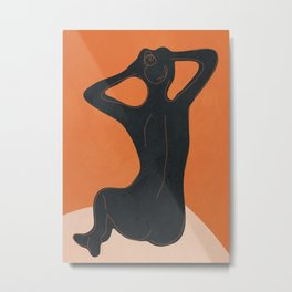 Abstract Nude I Metal Print