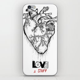 Heart Of Hearts: Outline & Stuff iPhone Skin