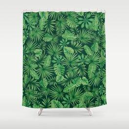 Tropical Floral Botanical Jungle Leaf Plants Nature Pattern Shower Curtain
