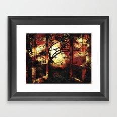Enter the fertile garden of light and dispel the darkness of the night Framed Art Print