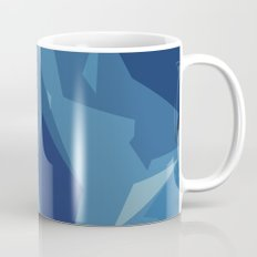 Blue Abstract Map Coffee Mug