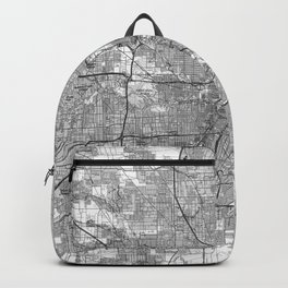 Houston Texas Map (1992) BW Backpack
