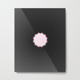 THE MISSING SCARF - Sun 3 Metal Print