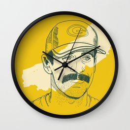 Mustachioed GOAT Wall Clock
